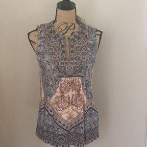 NWT Lucky Brand embroidered tunic boho size S